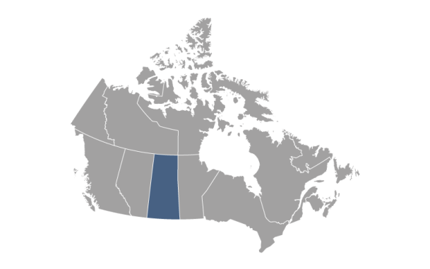 Central and Southern Saskatchewan map